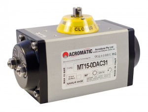 ACROMATIC, MT15 Anodised, Pneumatic Actuator, Acrodyne, control