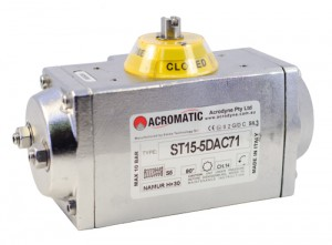 ST series, stainless, Acrodyne, ACROMATIC, pneumatic acuator, double acting